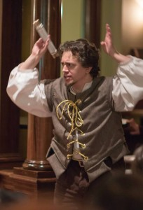 Jared as Andrew Aguecheek in 12th Night on 12th Night.