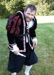 Glen Wall as Richard III in 2008's Bard In The Barn festival.